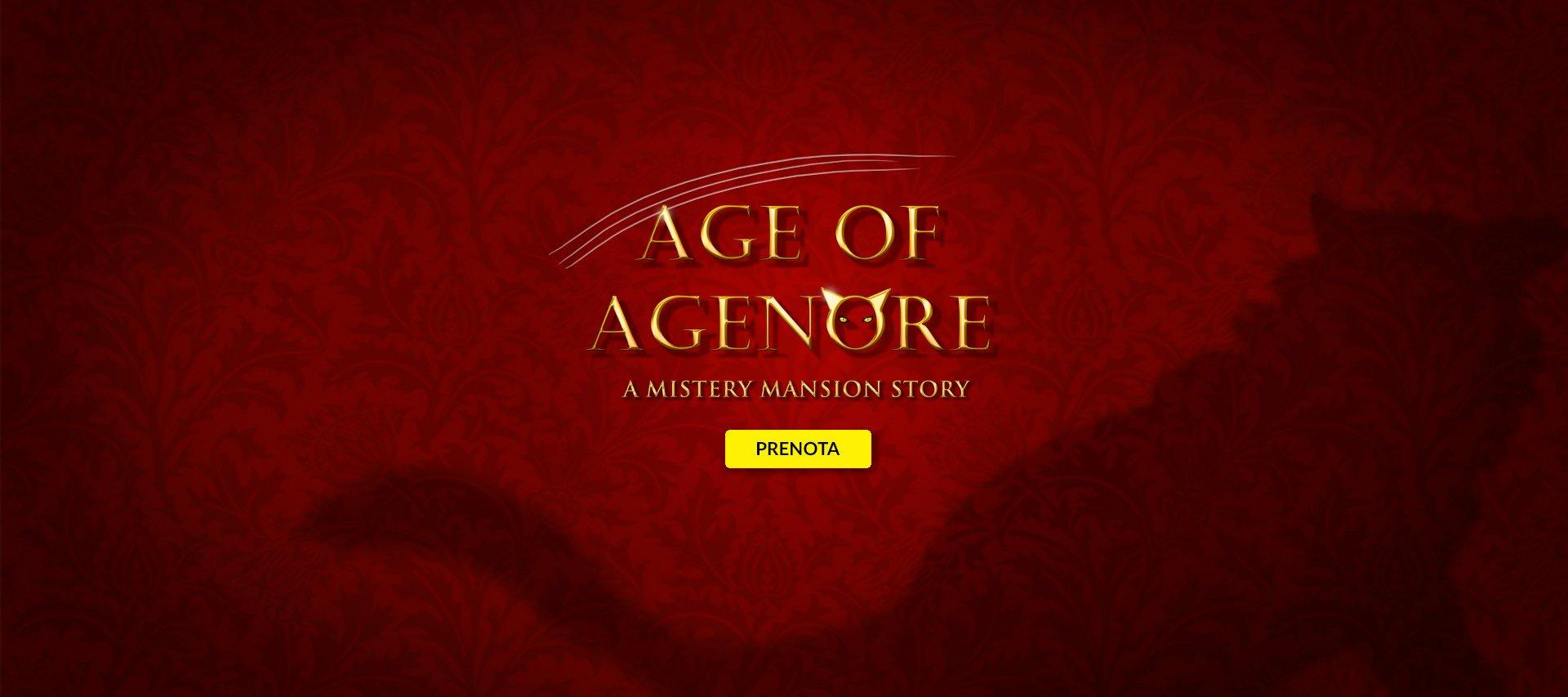 Nella slide il logo della Stanza Age of Agenore della Escape Room di Padova iScampa
